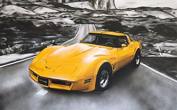 Chevrolet Corvette Lackierung (gelb) von Jos Hoppenbrouwers