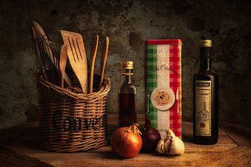 italian cuisine stilleven van Björn van den Berg