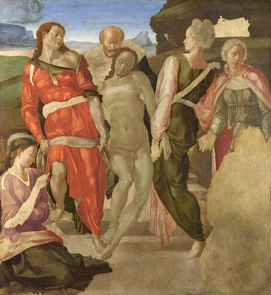 Die Grablegung Christi, Michelangelo Buonarroti von Meesterlijcke Meesters