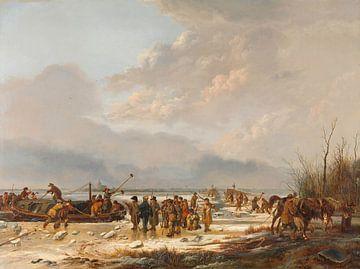 Die Durchfahrt des Karnemelksloot bei Naarden, Pieter Gerardus van Os