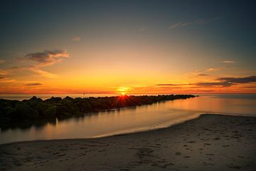 Sonnenuntergang Texel von Wilco Snoeijer