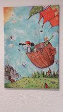 Kundenfoto: Die geheime Ballonfahrt von keanne van de Kreeke, auf leinwand
