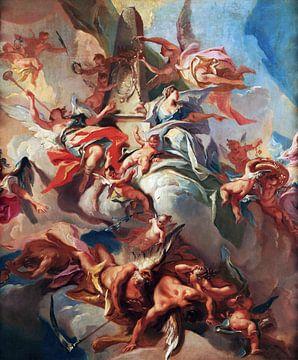 Carlo Innocenzo Carloni, Verherrlichung des Herzogs Ludovico Eberardo von Württemberg - 1733 von Atelier Liesjes