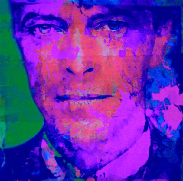 David Bowie Blue - Pink Babe Pop Art PUR van Felix von Altersheim