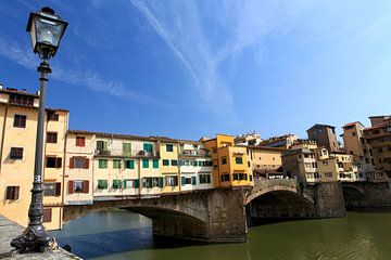 Brug Ponte Vecchio,  Florence, Toscane, Italie van Jasper van de Gein Photography