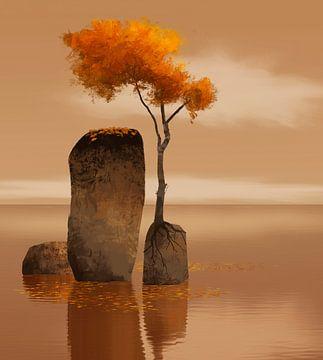 Herfst van Ontsnap landschap