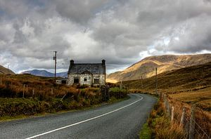 Vervallen huisje in Ierland van