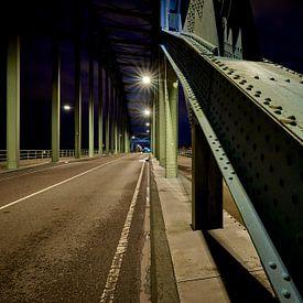 Stalen constructie oude Zwolse IJsselbrug van Jenco van Zalk