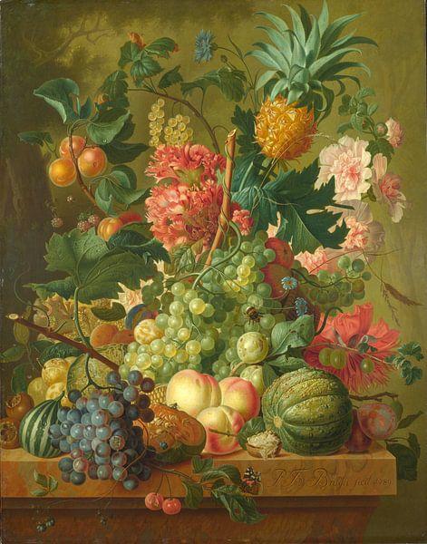 Fruit and Flowers, Paulus Theodorus van Brussel