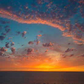 Zonsondergang bij Noordwijk aan Zee van Peter Apers