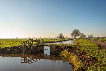 Kleine Brücke in der Region Alblasserwaard von Ruud Morijn