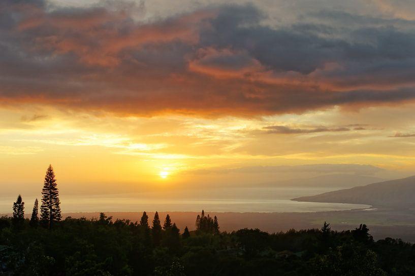 Hawaii - Sonnenuntergang auf der Insel Maui von Ralf Lehmann