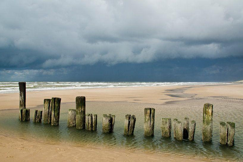 Landscape 'Dark clouds' van Greetje van Son