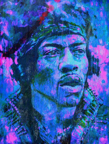 Jimi Hendrix Time Pop Art PUR