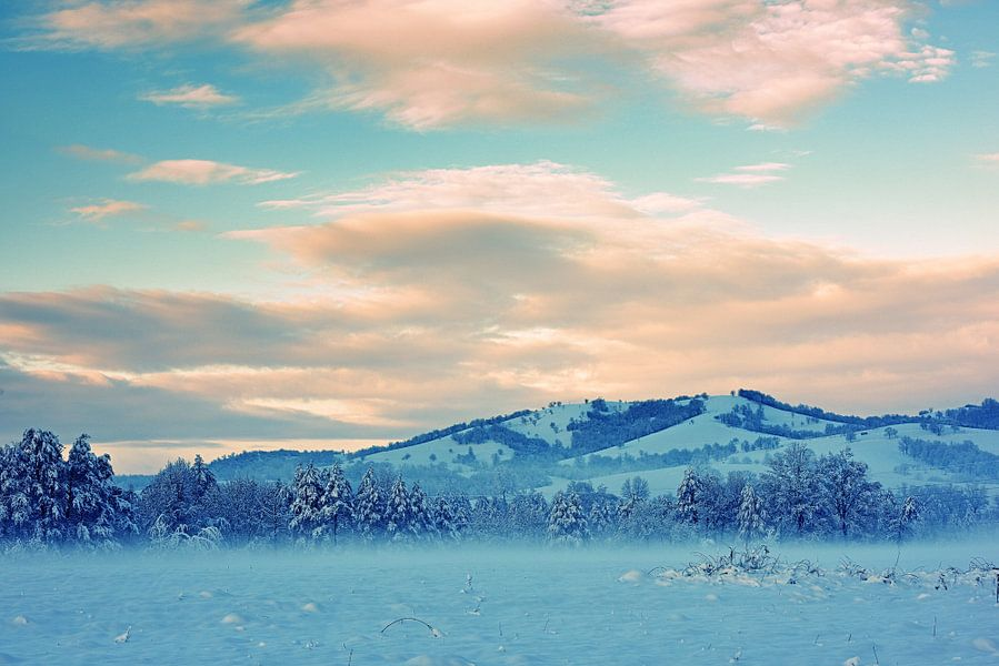 Winter avond van Dimislava Todorova