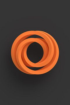 Oranje vortex op donkere achtergrond van Jörg Hausmann