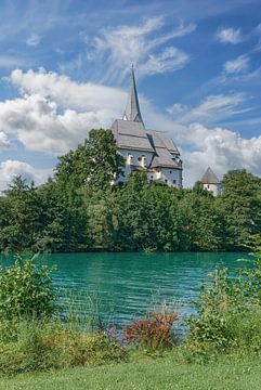 Église Maria Wörth, lac Wörthersee, Carinthie