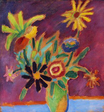 Bunte Blumen im Strauß, Alexej von Jawlensky, 1915