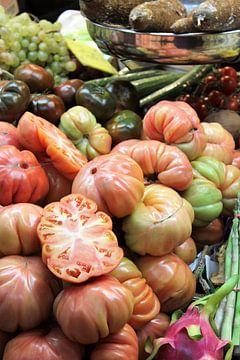 Tomaten op de markt van Marfa