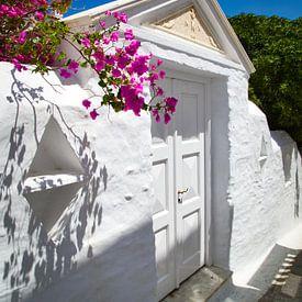 Andros-eilandchora, Cycladen, Griekenland van Konstantinos Lagos