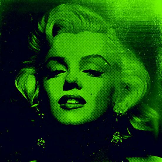 Marilyn Monroe Neon Gift Green Colourful Pop Art PUR