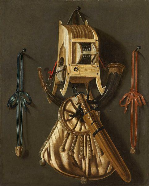 Stillleben mit Jagdausrüstung, Johannes Leemans von Meesterlijcke Meesters