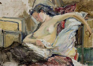 Stanislaw Wyspianski, Eine Frau, halbnackt - 1895 von Atelier Liesjes