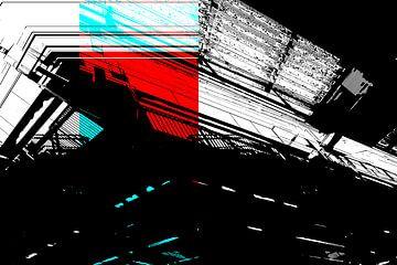 Rot und Cyan: Die Decke von Christophe Fruyt