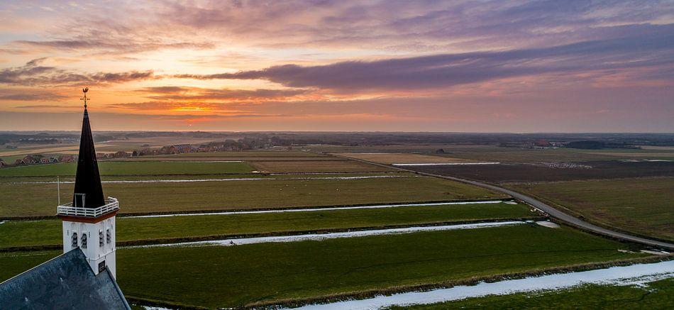 Den Hoorn Texel zonsondergang
