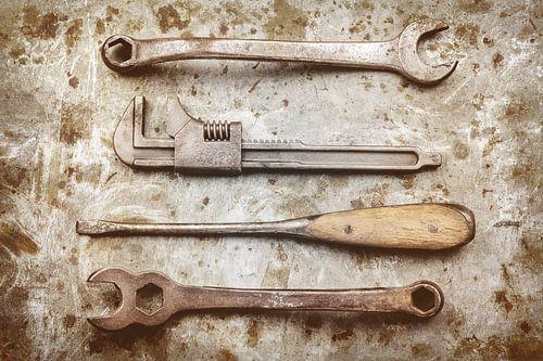 Het oude gereedschap van