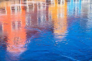 Reitdiephaven op ijs van Evert Jan Luchies
