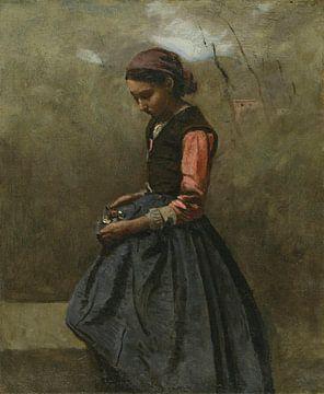 Ein nachdenkliches Mädchen, Jean-Baptiste Corot