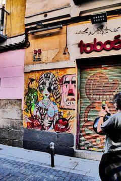 Madrid - Streetart fotograaf van Wout van den Berg