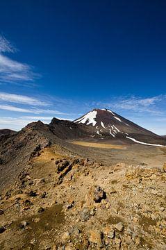 Mount Ngauruhoe - Tongariro - Nieuw Zeeland van Ricardo Bouman