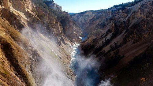 Rivier Yellowstone NP USA van
