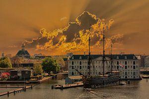 Sonnenuntergang, Amsterdam, Die Niederlande