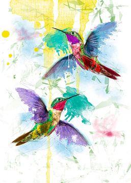 fröhliche Kolibris von De nieuwe meester