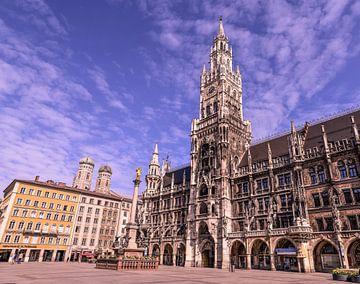 Marienplatz Rathaus München von Robert Styppa