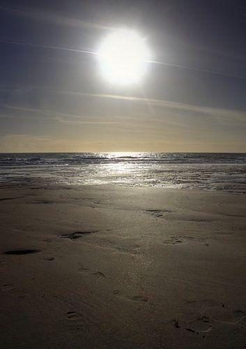 Zon staat hoog bij strand van Zoutelande van MSP Photographics