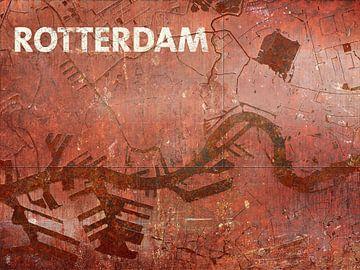 Waterkaart Rotterdam van Frans Blok