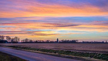 Kleurrijke zonsopkomst van Goffe Jensma