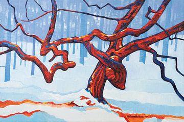 Een boom met een verhaal van Rob Donders Beeldende kunst