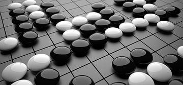 Go/Weiqi bordspel van Chrisjan Peterse