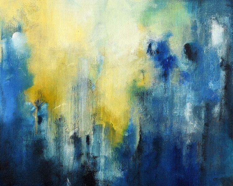 Blue Rain 2 van Maria Kitano
