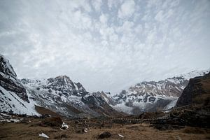 Uitzicht over Annapurna Base Camp Nepal