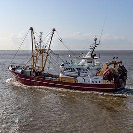 Viskotter op de Waddenzee van Klaas Doting