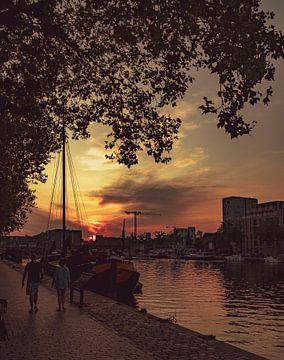 #Zonsondergang aan Piushaven