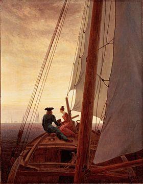 Caspar David Friedrich. On a Sailing Ship sur