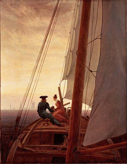 Caspar David Friedrich. Op een zeilschip van 1000 Schilderijen