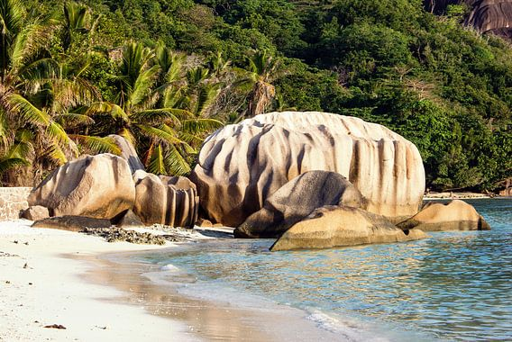 Droomstrand Anse Source d'Argent - La Digue - Seychellen van Max Steinwald